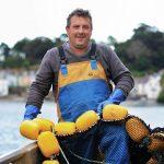 Peter Bullock, Cornish trawler skipper photographed at Fowey.