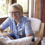 St Julias Hospice staff engaging with patients for Cornwall Hospice Care