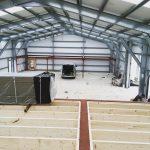 Work underway inside Colwith Farm Distillery