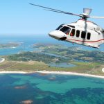 AW139 over the Isles of Scilly