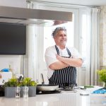 Chef Ben Tunnicliffe at the helm in a Cornish Gems holiday home