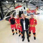 Richard with paramedics Mick, Mark & Steve