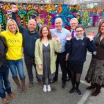 Unveiling a huge mural in Falmouth