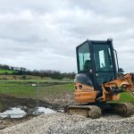 Digger Onsite at Penzance Heliport