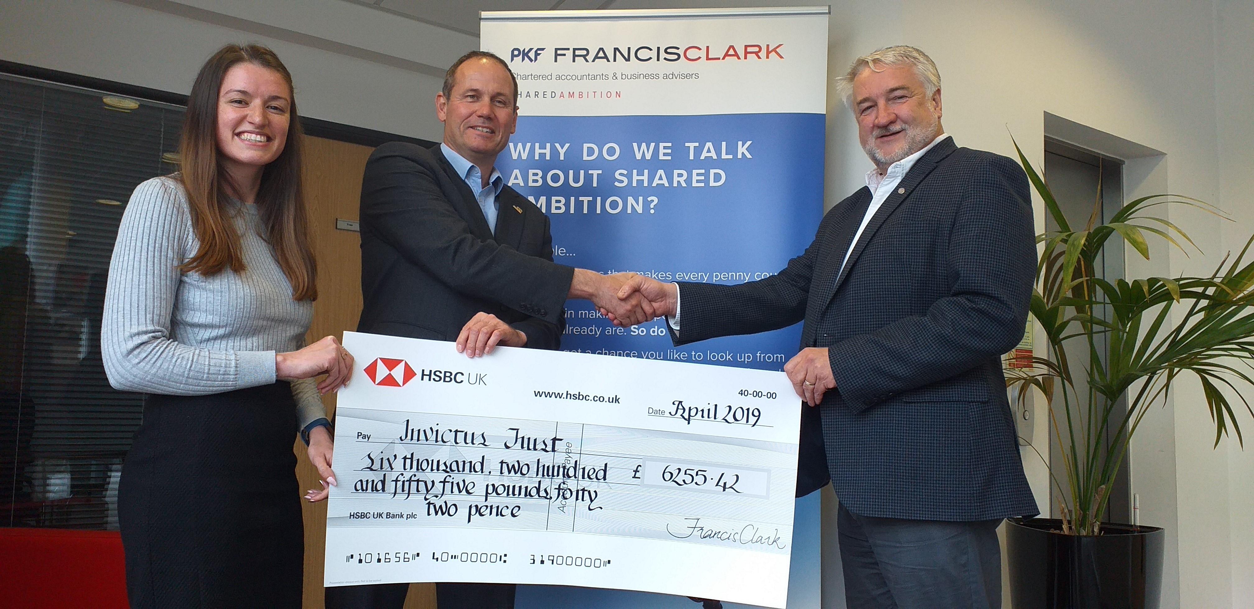 Accountant raises £6k for Invictus Trust | Business Cornwall