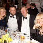 New Heli Appeal Chair Barbara Sharples, Critical Care Paramedic Steve Garvey with New Heli Ambassadors Richard & Judy Madeley