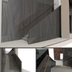 Render of Royal Albert Hall Staircase