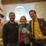 L-R James Neale, Pat Smith and James Strawbridge at Final Straw Cornwall launch event