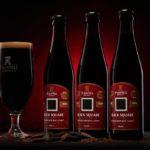 Black Square 2020 – Landscape 3 Bottles Red Background