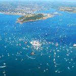 Falmouth Tall Ships 2014 aerial