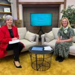 Daphne Skinnard DL host and trustee in the studio in the studio with CCF Chairman Jane Hartley DL72 (1)