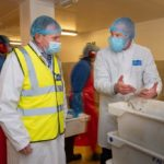 UNPPhotograph by Emily Whitfield-Wicks Wm Morrisons – Falfish site – Redruth. Sec of State for environment F&A George Eustice  meets with Morrisons reps and has tour of site. WM Morrisons Falfish Redruth0872