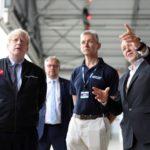 L-R PM, Boris Johnson, MP, Steve Double, Ian Annet, UKSA, Patrick McCall – Head of Virgin Group 72